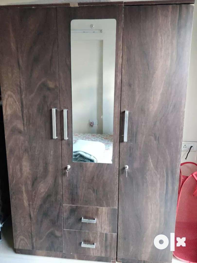 New 3 door almirah with mirror 0