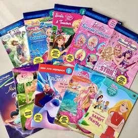 Paket Buku Cerita Barbie Animasi 2 Bahasa ( Indonesia & Ingggris )