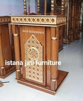 Mimbar masjid as salam istana jati