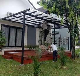 Canopy solarflat teras rumah #1103