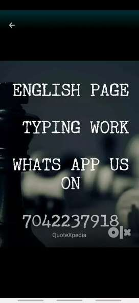 Try to use your time by doing simple online and Offline work as typing