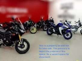 Semi furnished Space for Bike showroom new or used/Car accessories