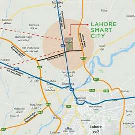 1 kanal Plots available on installments in Lahore smart city