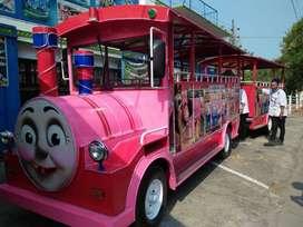 kereta mini odong odong thomas merah muda RY