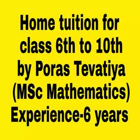 Home tuitions for Mathematics & science