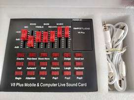 Sound card V8 plus Bluetooth bisa Bayar ditempat