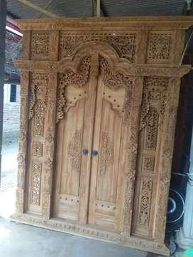 Pintu gebyok jati waritas contri