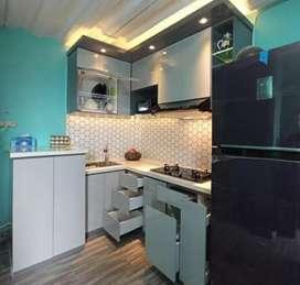 Interior murah harga sahabat kitchenset partisi backdrof finis hpl