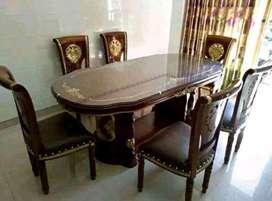 kursi makan satu set laku