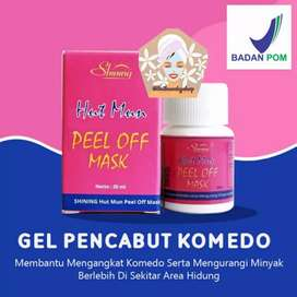 HUTMUN PEEL OF MASK BY SHINING GEL PENCABUT KOMEDO
