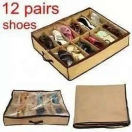 12 pairs shoes bag