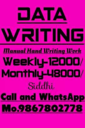 Manually handwriting job