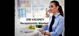 Lady receptionist and front office