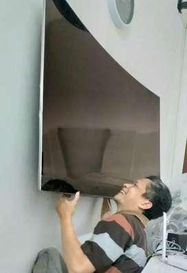 pasang dan jual bracket utk gantungan tv lcd led di tembok nyaman kuat