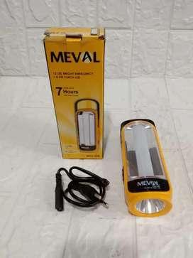 PROMO GAN-SENTER MEVAL ME2-12A 2IN1 LAMPU EMERGENCY+SENTER RECHARGE