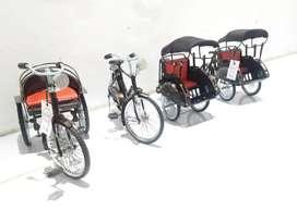 Miniatur Sepeda, Becak, Motor