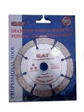 "Pisau potong Keramik, Batu alam / Diamond Wheel 4"" merek GAT"