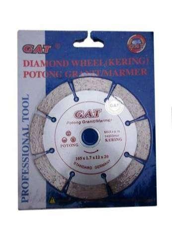 "Pisau potong Keramik, Batu alam / Diamond Wheel 4"" merek GAT 0"