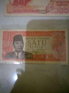 Uang Kuno 1 rupiah 1964