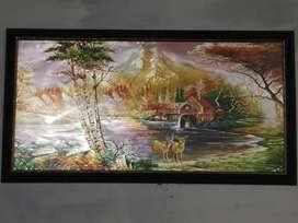 Oil painting 3d landscape painting 55 length 100 bridth