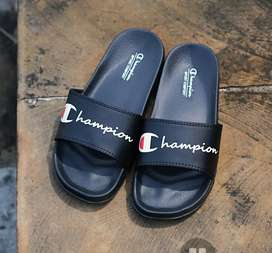Jual sandal champion Black font