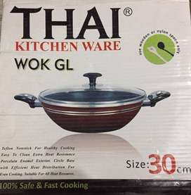 Non stick Karhai with non stick spoon