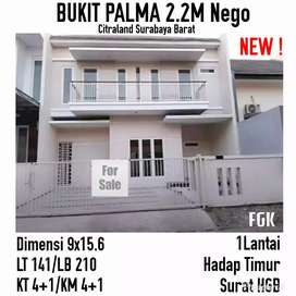 Rumah bukit palma citraland benowo surabaya mewah siap huni baru gress