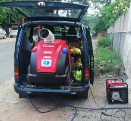 Mobile steam car wash unit