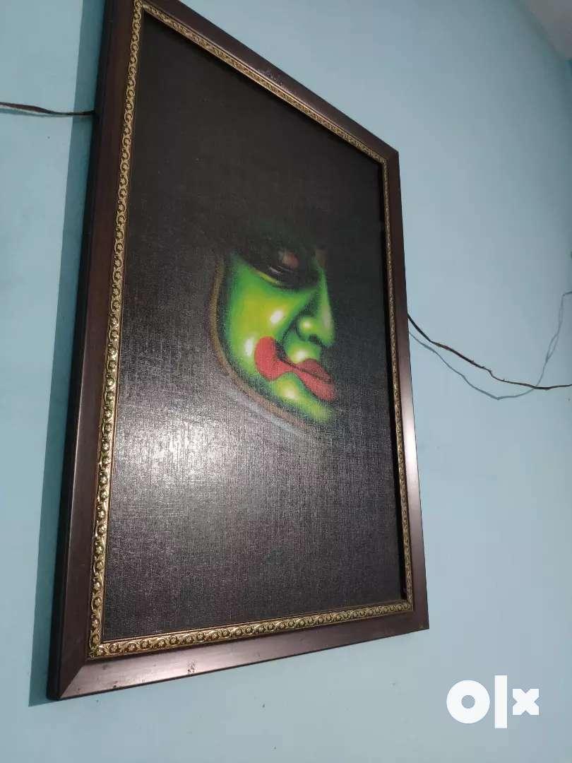 Framed kadhakali dark shade paintings