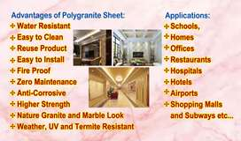 polygranite sheets and Fome tiles