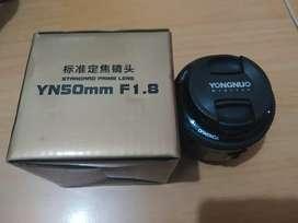 Lensa fix Yong Nuo 50mm f1.8 mulus