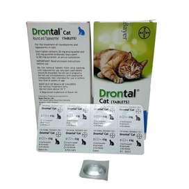 DRONTAL CAT obat cacing kucing tablet ampuh original