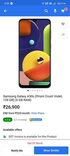 A50s(6,128)gb 3 mahina chala h koi bhi problem nhi h phone main