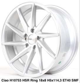 velg baru merk CIAO 10753 HSR R18X8 H5X114,3 mobil innova alphard