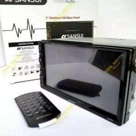 Paket murah DOUBLE DIN SANSUI 5201i di sukawangi+pasang ke rumah