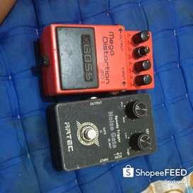 Efek Gitar Boss Mega Distortion Dan Artec noise Gate