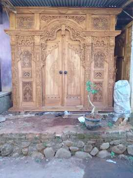 Gebyok 2,5meter pintu rumah uker bp angga