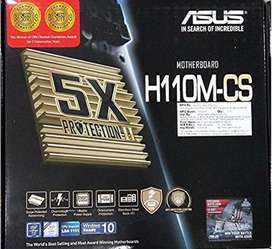 Asus H110M-CS intel 6th & 7th gen supported Motherboard