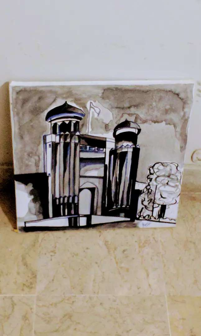 Painting done in Pen N Ink. Theme: Heritage