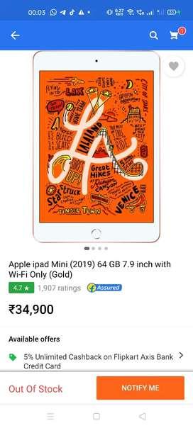 Apple Ipad Mini 5 64Gb Gold (A12 Chip)