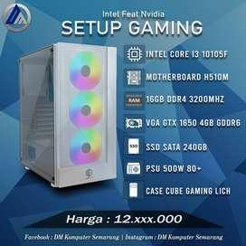 PC Gaming Intel I3 10105F VGA GTX 1650 4GB SSD 240GB Ready
