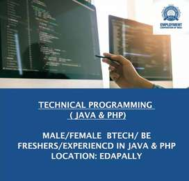 TECHNICAL PROGRAMMING  ( JAVA & PHP)