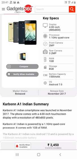 Karbon a1 Indian 2nd hand
