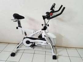 Spinning Bike JLS Putih America White Total Fitness