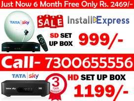 Tata Sky Dhamka Offer Dish Tv Tatasky Airtel Tv Only 999/-