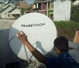 Pasang murah Transvision HD rsmi Medan nonton puas free instalasi