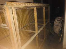 Heavy wooden colony cage hand made