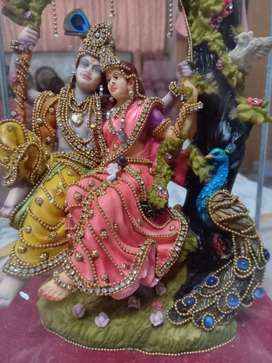 Goldplated handcrafted Radha krishna Statue