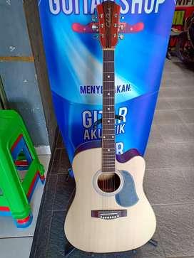 Gitar aksutik list gading bukan putih