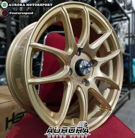 Pelek racing avanza ring 16 tipe Kamikaze warna gold